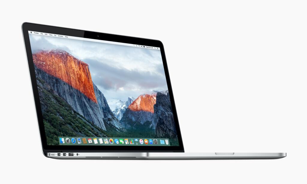 TILBAKEKALLES: Apple tilbakekaller 15-tommer MacBook Pro fra midten av 2015 fordi batteriene kan overopphete. Foto: Apple