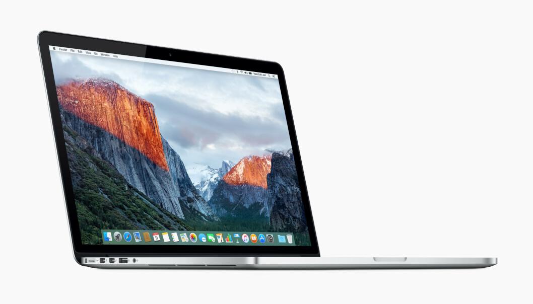 <strong>TILBAKEKALLES:</strong> Apple tilbakekaller 15-tommer MacBook Pro fra midten av 2015 fordi batteriene kan overopphete. Foto: Apple