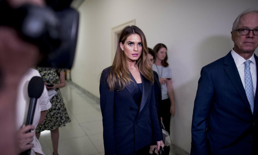 I AVHØR: Donald Trumps tidligere kommunikasjonssjef, Hope Hicks, var i avhør i forbindelse med granskningen av Donald Trump denne uka. Foto: AP Photo/Andrew Harnik