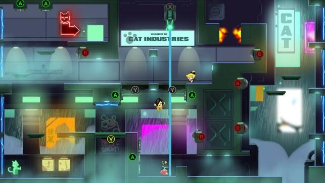Agents vs Villain skal spilles av flere spillere i samme rom. Blant annet kan en av dem styre fellene rundt på brettet, som du ser er merket med ulike Xbox-knapper. 📸: Process