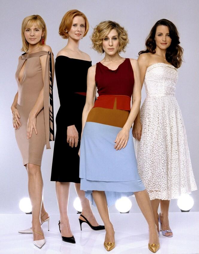 SUKSESS: Vi kan ikke se for oss noen andre i rollene som Samantha, Miranda, Carrie og Charlotte enn disse damene. Foto: Scanipx