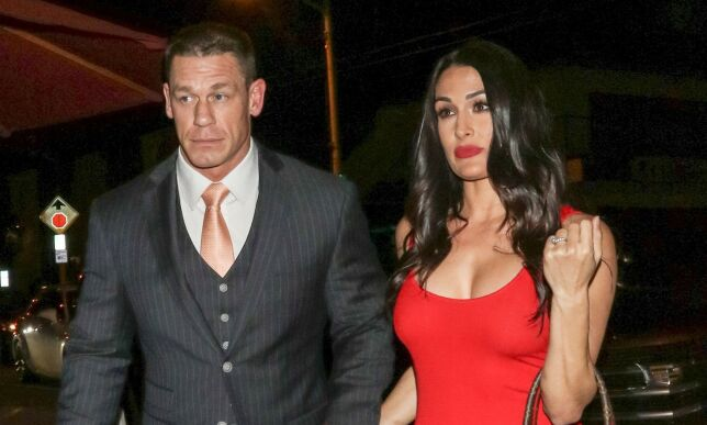 Mandatory Credit: Photo by REX (9475987c) John Cena and Nikki Bella Celebrities at Craig's Restaurant, Los Angeles, USA - 24 Mar 2018