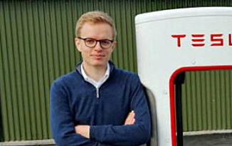 UENIG: Kommunikasjonssjef i Tesla Norge, Even Sandvold Roland, er ikke enig i konklusjonen i IIHS sin undersøkelse. Foto: NTB Scanpix