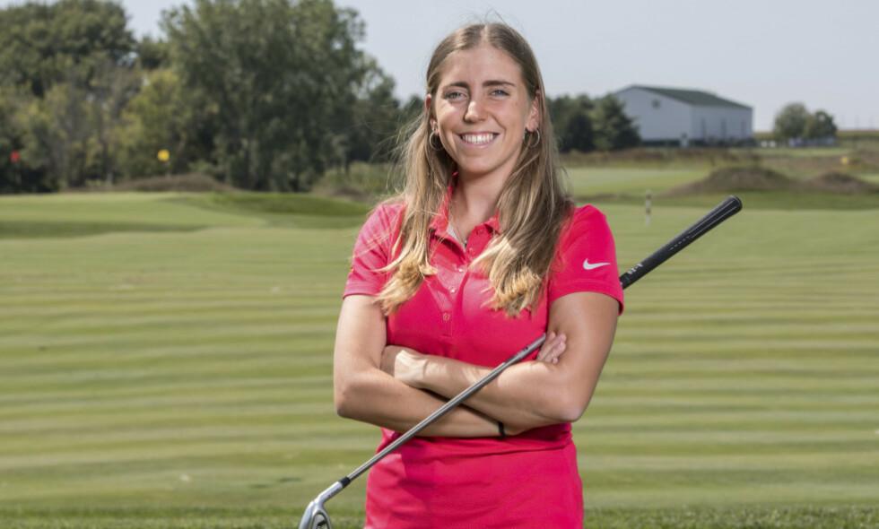 TRAGISK: Den spanske golfspilleren Celia Barquin Arozamena ble i fjor høst drept på en golfbane i Iowa, der hun studerte. Få dager etter drapet skulle hun tildeles pris fra universitetet hun gikk på, som årets kvinnelige idrettsutøver.Foto: NTB scanpix