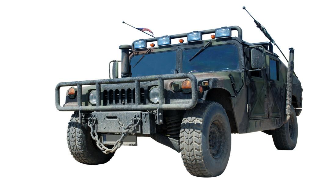 <strong>HUMVEE:</strong> Slik ser den originale militære Humvee ut. Foto: NTB Scanpix.
