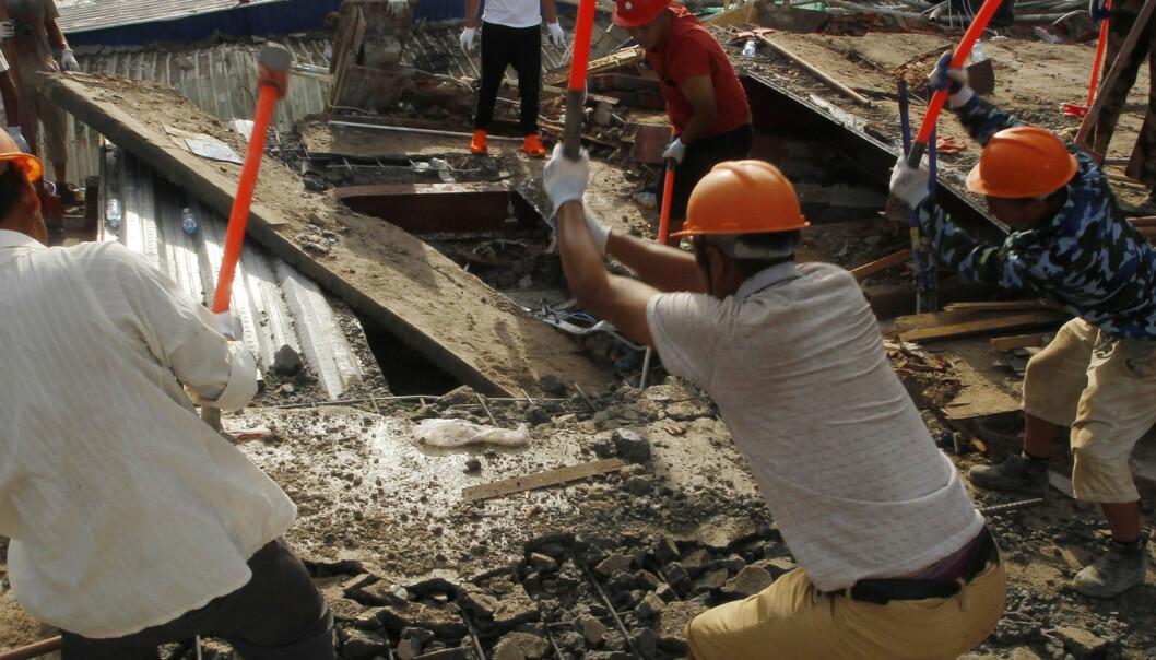 17 funnet døde etter bygningskollaps i Kambodsja