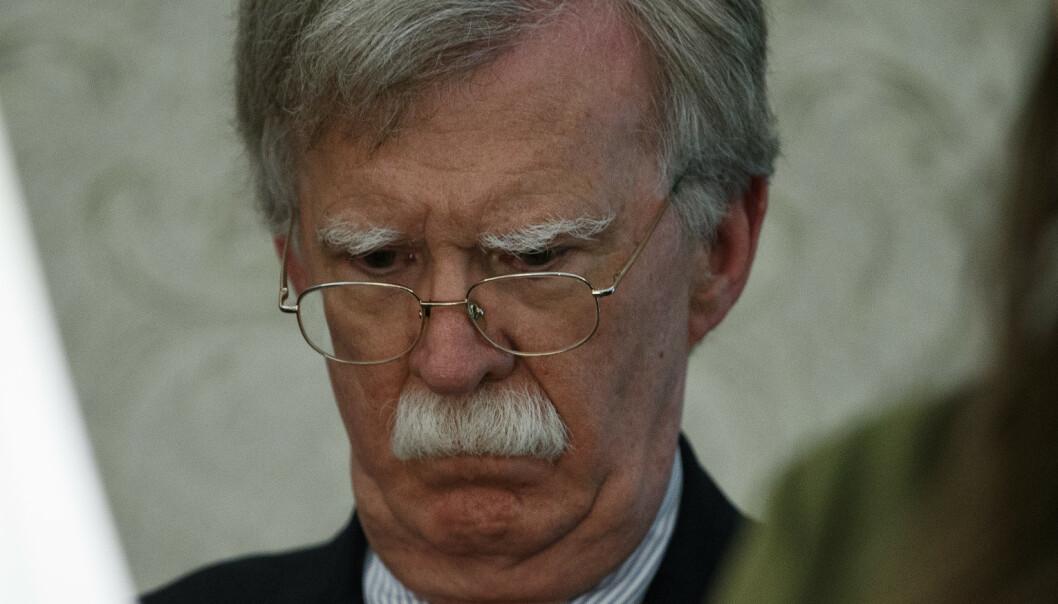 Bolton: – Iran må ikke feiltolke USAs klokskap som svakhet