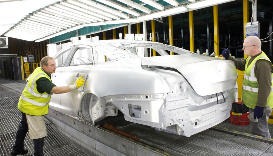 ALUMINIUM: Få bruker så mye aluminium som Jaguar, og i nye XJ vil det virkelig komme til nytte. Foto: Jaguar
