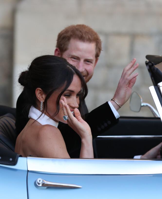ARVEGODS: Den blå ringen var Diana sin, og ble brukt av Meghan etter bryllupet i fjor. Foto: NTB scanpix