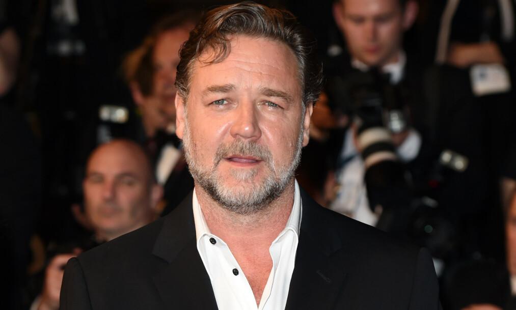 <strong>DYR KVELD:</strong> Skuspiller Russell Crowe kunne nylig fortelle om det som skulle vise seg å bli en svært dyr og fuktig kveld, da han besøkte skuespiller Leonardo Dicaprio. Foto: NTB Scanpix