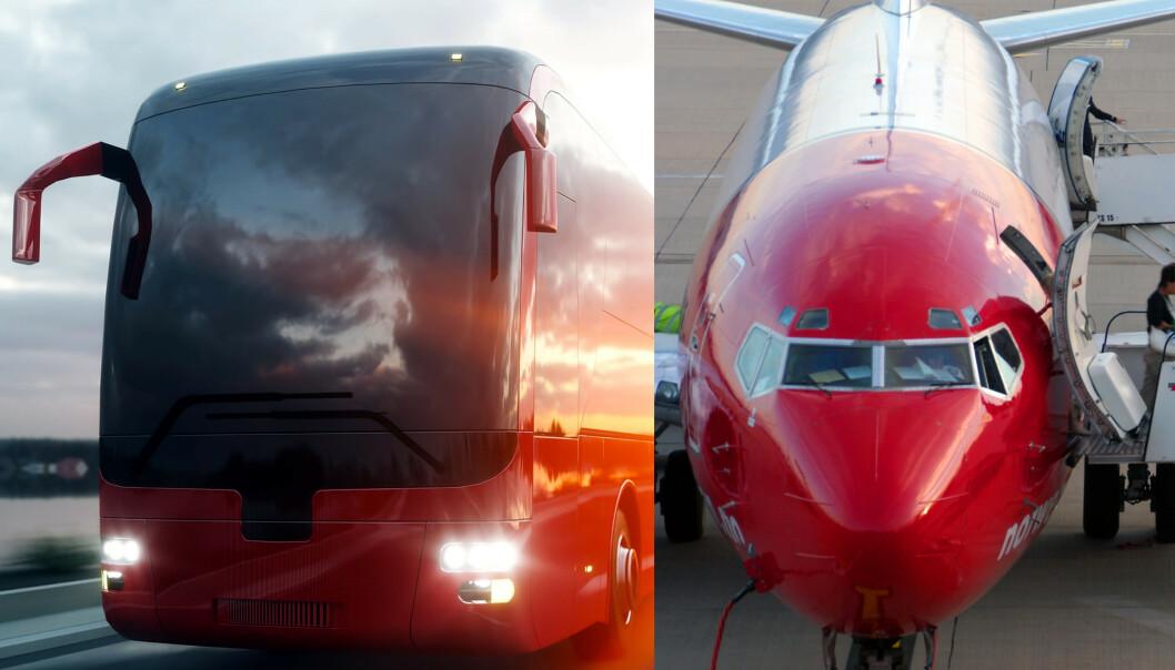 Fly versus buss fra København til Oslo: Hvem kom først fram?