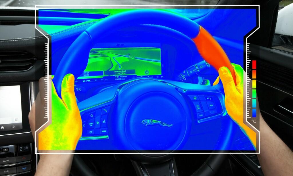 VARMESENSOR: I fremtiden kan varme varsle deg om hvilken retning du skal svinge. Foto: Jaguar