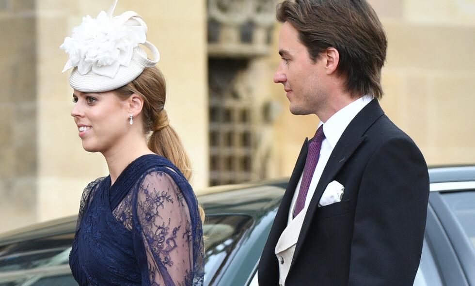 FORELSKET: Prinsesse Beatrice og kjæresten Edoardo skal angivelig være klare til å ta forholdet til det neste steget. Her avbildet i mai. Foto: NTB Scanpix