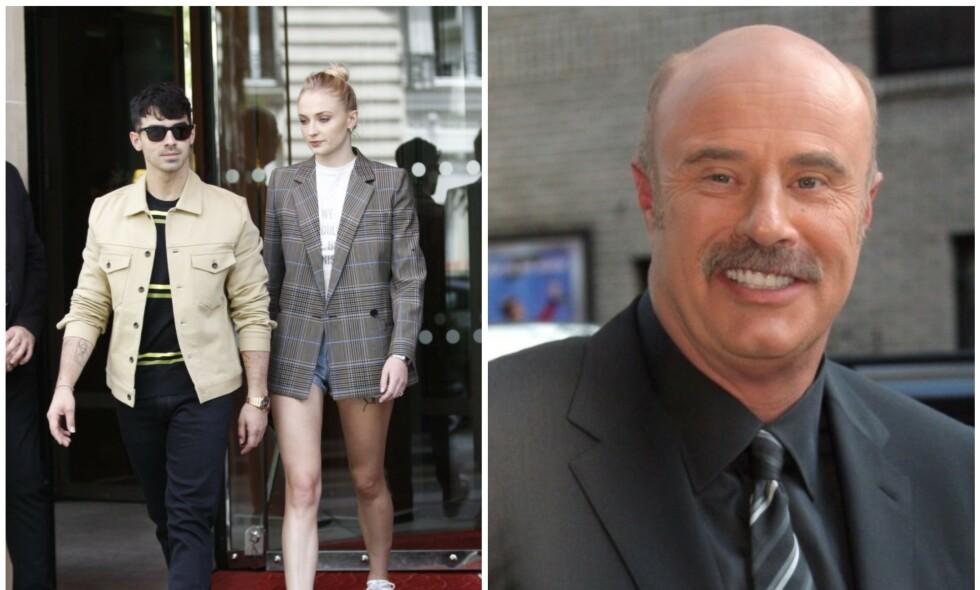 BRYLLUPSFEST?: I en kommentar på Instagram kan Dr. Phil ha avslørt superparet Joe Jonas og Sophie Turners planer om en storslått bryllupsfeiring i Paris. Foto: NTB Scanpix