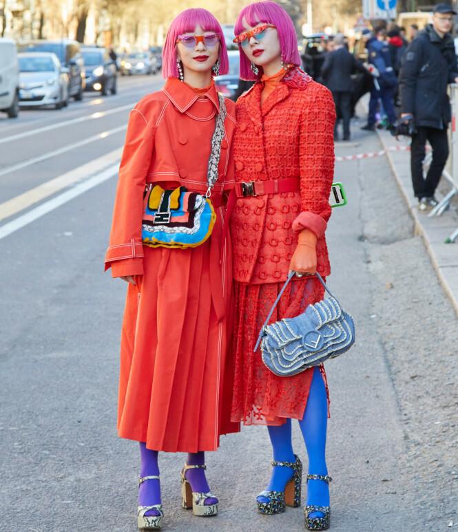 Streetstylestjernene er alltid først med det siste. FOTO: NTB/Scanpix
