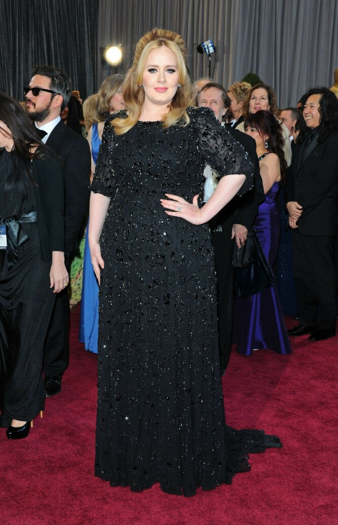 FLOTT: Adele under Oscar-utdelingen i Los Angeles i 2013. Foto: NTB Scanpix