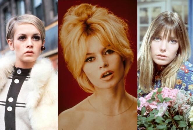 <b>SVINGENDE FREMTID: </b>Twiggy, Brigitte Bardot og Jane Birkin var selve definisjonen på 60-tallstrendene. Foto: Zdenko Hirschler/Moviestore/Fremantle Media/REX/NTB Scanpix.