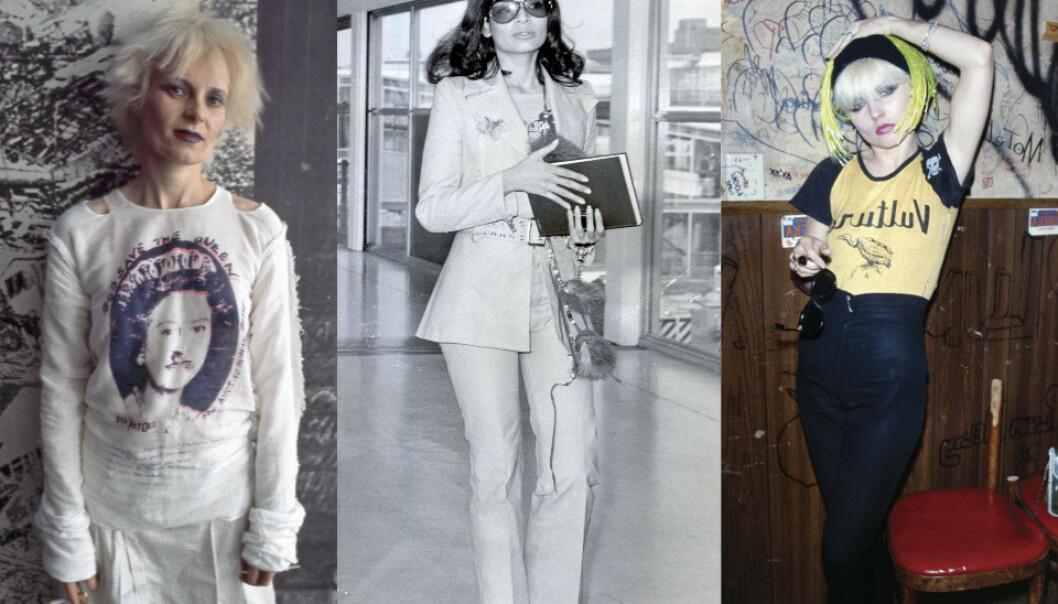 <b>    PUNK, DISCO OG HIPPIER:</b> Vivienne Westwood, Bianca Jagger og Debbie Harry var tre sterke kvinner, som ikke var redde for å uttrykke sine personligheter og lidenskaper. Foto: Elisa Leonelli/Ray Brigden/Brad Elterman/REX/NTP Scanpix.