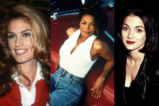 63ab2689 SUPERMODELLER OG MINIMALISME: Cindy Crawford, Janet Jackson og Winona Ryder  prydet ungdommens vegger,