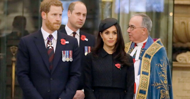 Mandatory Credit: Photo by REX (9642118a) Prince Harry, Prince William and Meghan Markle arrive to attend a service of Thanksgiving and commemoration Anzac Day service at Westminster Abbey, London, UK - 25 Apr 2018