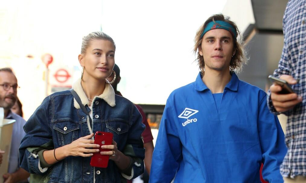 AVVIST: Modell Hailey Bieber har lenge hatt en drøm om å starte et eget sminkemerke, men nylig kom det frem at drømmen ikke blir noe av på grunn av ektemannen Justin Bieber. Foto: NTB scanpix