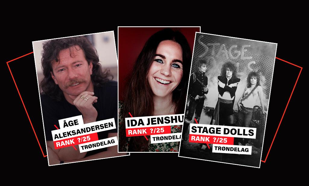 DAGBLADET KÅRER: Dagbladet kårer de beste artistene/bandene fra Trøndelag de siste 40 åra. Illustrasjon: Liselotte Hauer Kind / Dagbladet