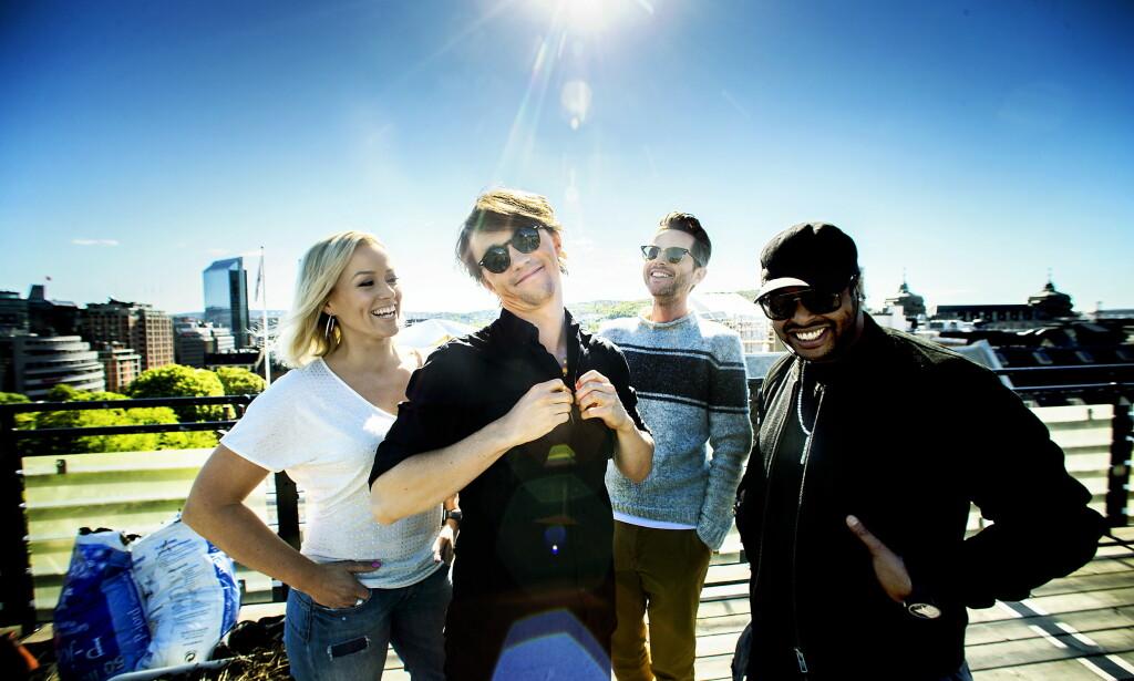 MENTOR: Espen Lind har i flere år vært mentor i TV 2-programmet «The Voice». Her sammen med kollegene Hanne Sørvaag, Sondre Lerche og Yosef Wolde-Mariam i 2015. Foto: Bjørn Langsem / Dagbladet