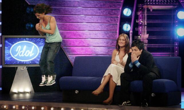 STARTEN: Alejandro Fuentes kom på tredjeplass i «Idol» i 2005, 17 år gammel. Her med vinner Jorun Stiansen og Tone Damli, som kapret andreplassen. Foto: Bjørn Langsem / Dagbladet