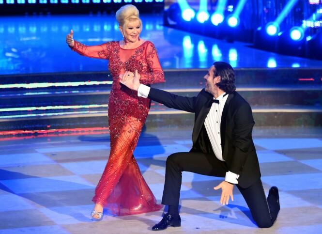 <strong>«SKAL VI DANSE»:</strong> Ivana Trump og eksmannen Rossano Rubicondi gjestet i mai 2018 italienske «Skal vi danse». Foto: Shutterstock/ NTB Scanpix