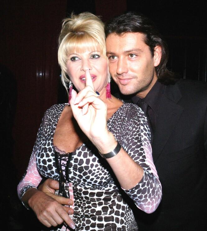<strong>KORT EKTESKAP:</strong> Ivana Trump og Rossano Rubicondi har hatt et av og på-forhold i flere år. I 2008 giftet de seg, men forholdet som mann og kone varte bare i fire måneder. Her er de to avbildet under filmfestivalen i Cannes i 2005. Foto: NTB Scanpix