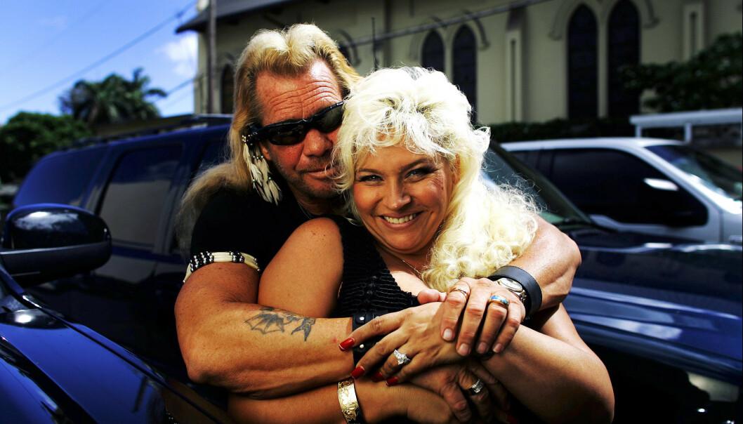 TV-PAR: Chapman-ekteparet ble kjent gjennom realityserien «Dog the Bounty Hunter». Her i 2006. Foto: NTB Scanpix