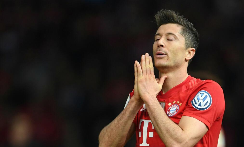 TRØBBEL I VENTE? Robert Lewandowski har vært en målmaskin for Bayern München de siste sesongene, men det spørs om det blir like enkelt neste sesong. Foto: Reuters.