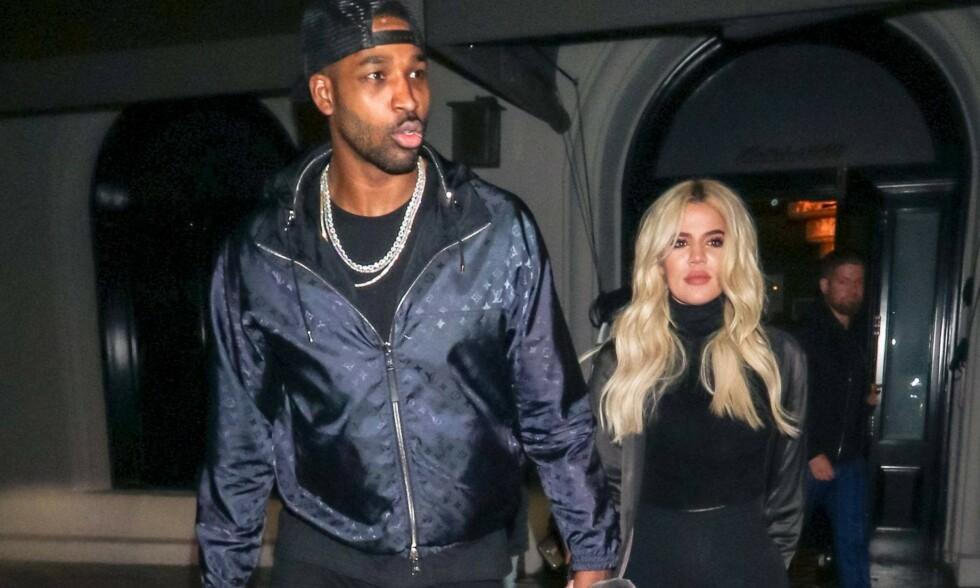 SÅRT BRUDD: Tristan Thompson behandlet ikke Khloé Kardashian særlig bra da de var kjærester. Nå skryter han av henne i sosiale medier. Foto: NTB Scapix
