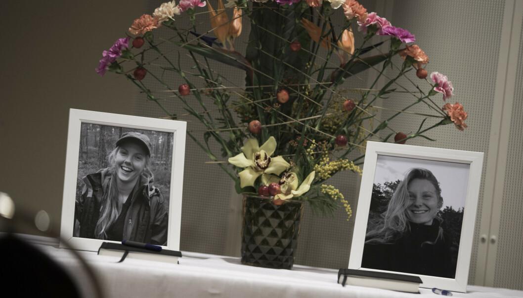 Maren Ueland (t.v.) og Louisa Vesterager Jespersen ble drept i Marokko i desember. Foto: Trond Reidar Teigen / NTB scanpix