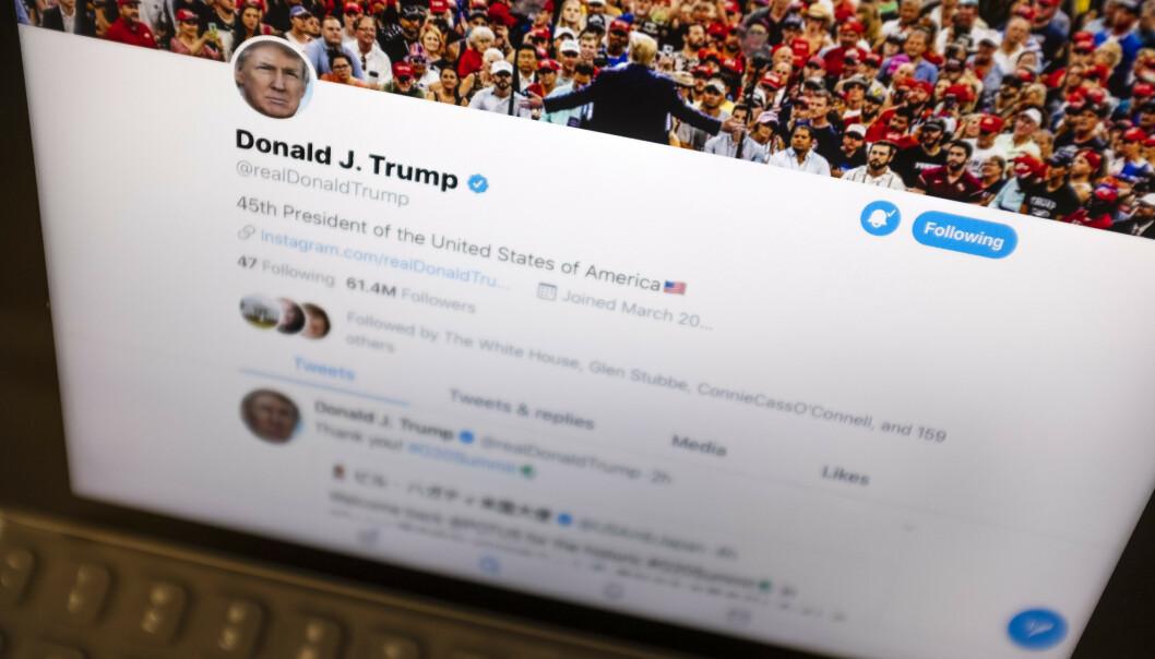 President Donald Trump bruker Twitter aktivt for å nå ut til over 61 millioner følgere. Foto: AP / NTB scanpix