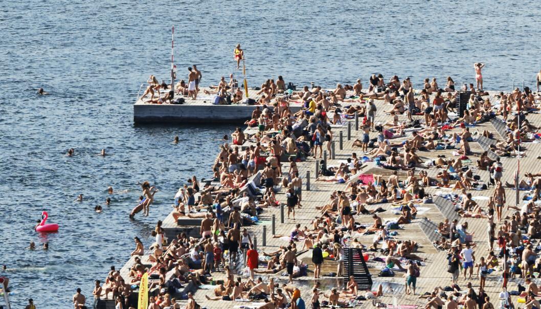 Deler av Sør- og Østlandet kan få en liten smak av hetebølgen i Europa til helgen.Foto: Erik Johansen / NTB scanpix