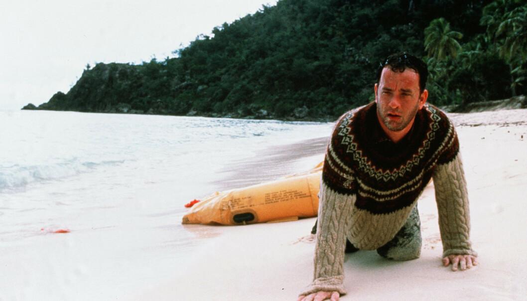 <strong>STORFILM:</strong> Tom Hanks på en øde øy i dramaet «Cast Away» fra 2000. Foto: NTB Scanpix