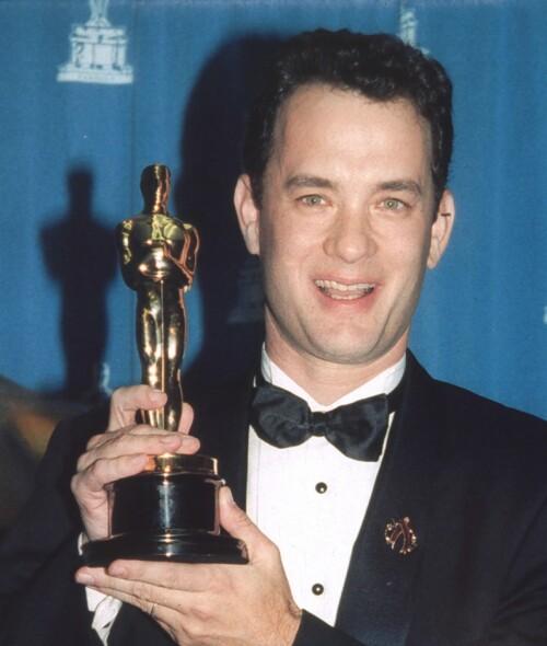 <strong>OSCAR:</strong> Tom Hanks har to Oscar-statuetter stående hjemme – en for «Philadelphia» og en for «Forrest Gump». Foto: NTB Scanpix