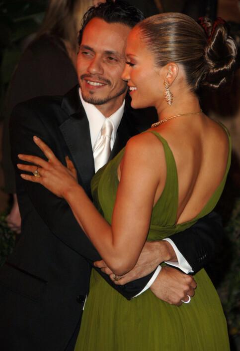EKSER: Jennifer Lopez var gift med Marc Anthony da hun møtte Rodriguez for første gang. Her er eksparet avbildet sammen i 2006. Foto: NTB Scanpix