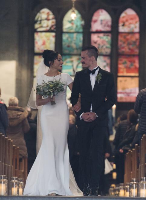 HAPPY: Henrik and Leah Ingreegtsen married in Stavanger in April last year. Photo by Anders Martinsen / Se and Hur