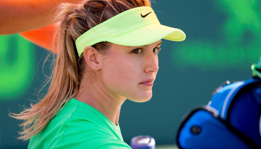 <strong>UT MOT KRITIKERNE:</strong> Tennisstjerna Eugenie Bouchard. Foto: Mario Houben/CSM/REX