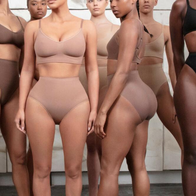 DELTE REAKSJONER: Flere elsker Kim Kardashians nye lansering, mens andre mener hun bør navngi kolleksjonen på nytt. Foto: Scanpix