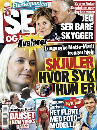 <strong>AVSLØRING:</strong> Det er i tirsdagens Se og Hør Magnus Carlsens nye forhold avsløres. Foto: Faksimile, Se og Hør