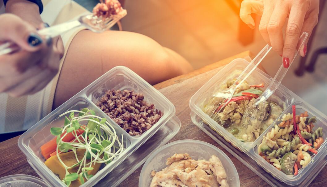 RIKTIG OPPBEVARING: Det er viktig at maten oppbevares i bokser som er laget til det formålet.