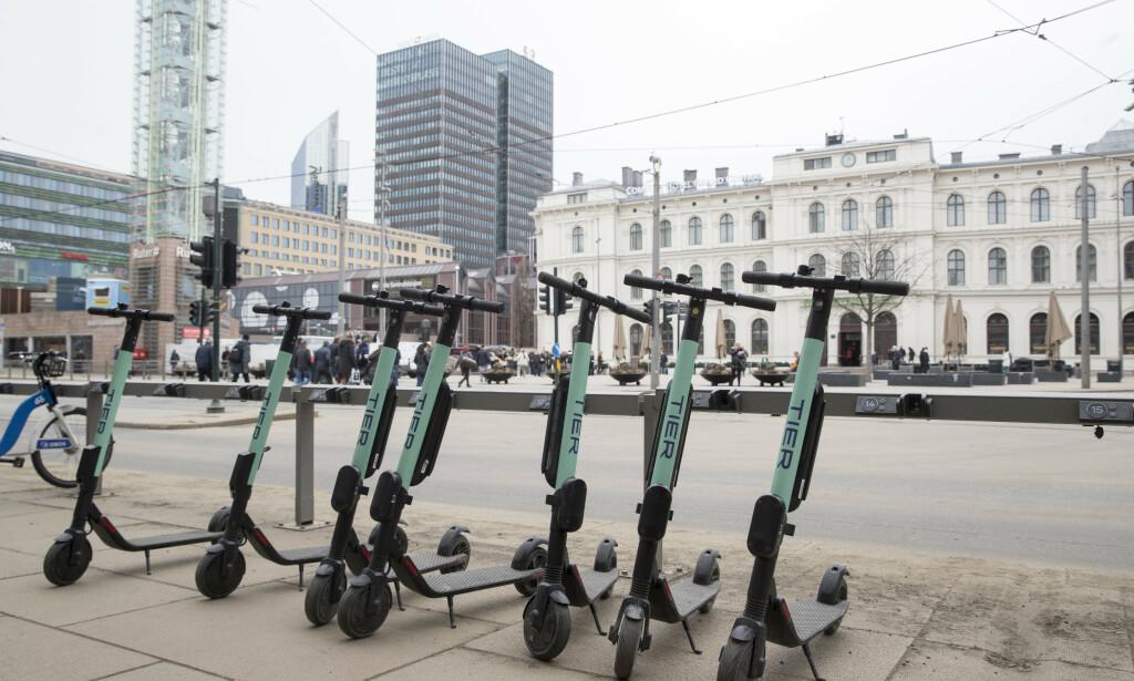 Fra april til og med juni ble 187 personer skadd etter fall med elektrisk sparkesykkel i Oslo. Foto: Terje Pedersen / NTB scanpix