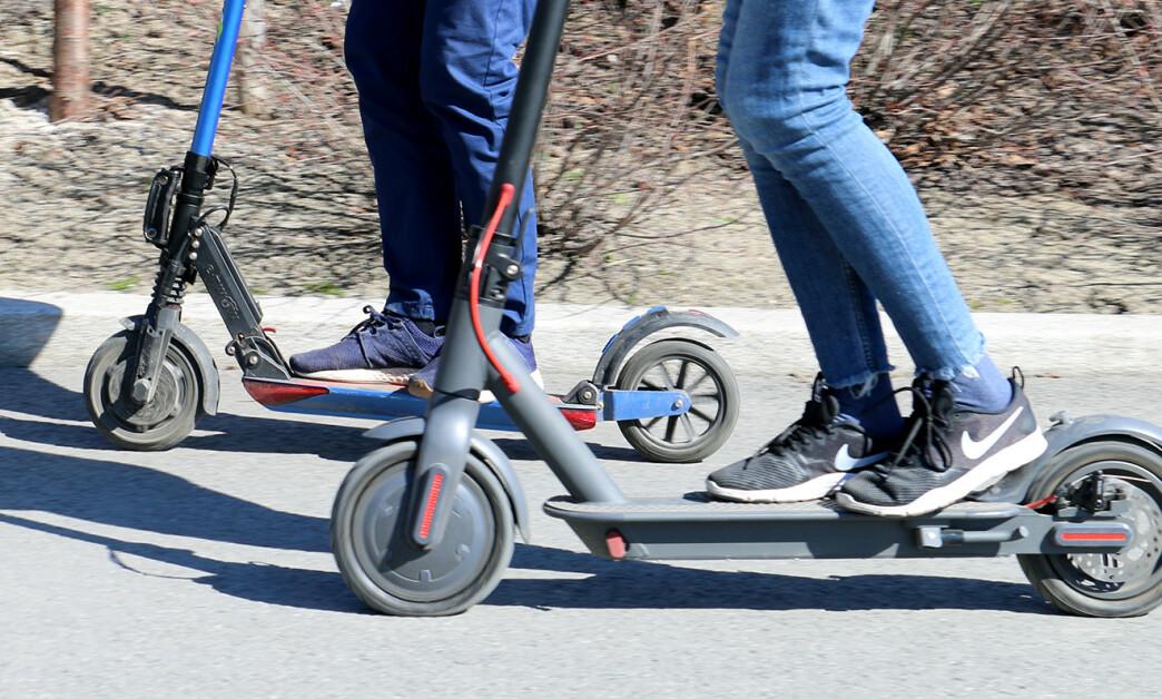<strong>ULYKKER:</strong> I juni ble det registrert 107 skader relatert til bruk av elsparkesykler. Foto: Kirsti Østvang