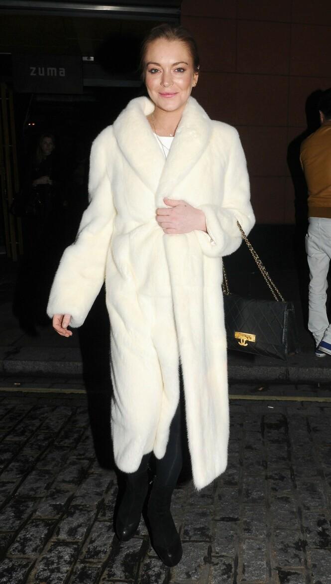 SKANDALEDRONNING: Lindsay Lohan vet å sjokkere. Her fra London i november 2014. Foto: NTB Scanpix