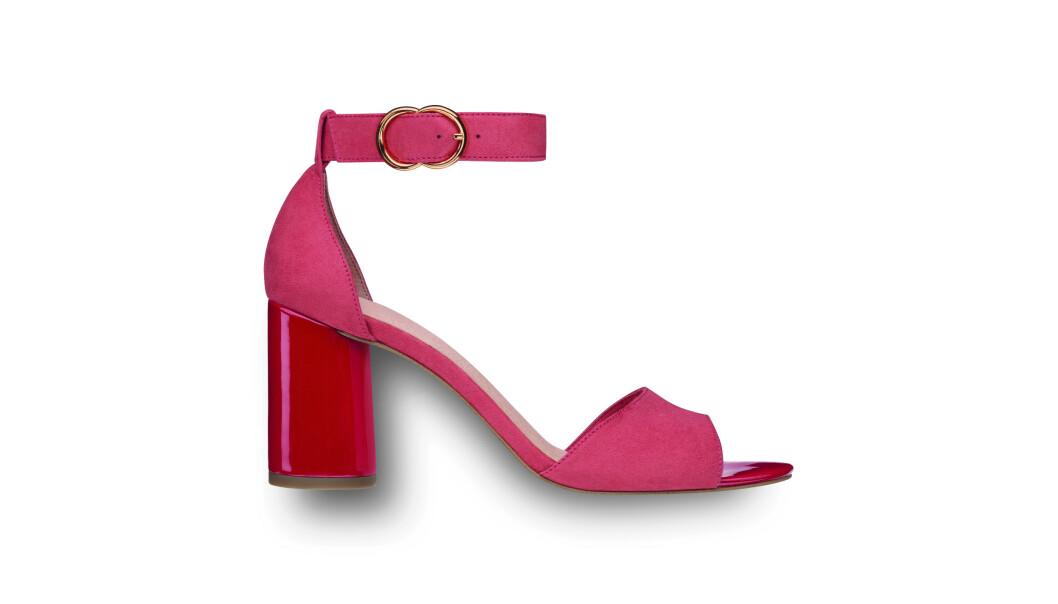 Sandaler med hæl (kr 600, Tamaris). FOTO: Produsenten