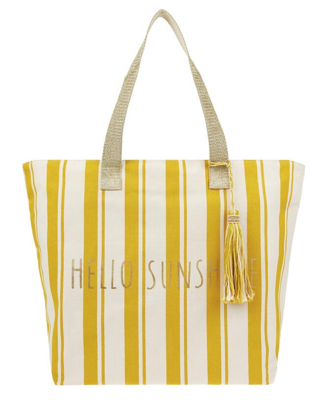 Stripete strandbag (kr 280, Accessorize). FOTO: Produsenten