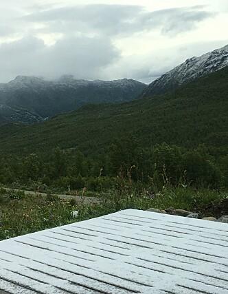 <strong>SNØDEKT:</strong> Kulderekorden i Oppland har gjort sommerferien kaldere enn forventet. Foto: Hilde Hatlo